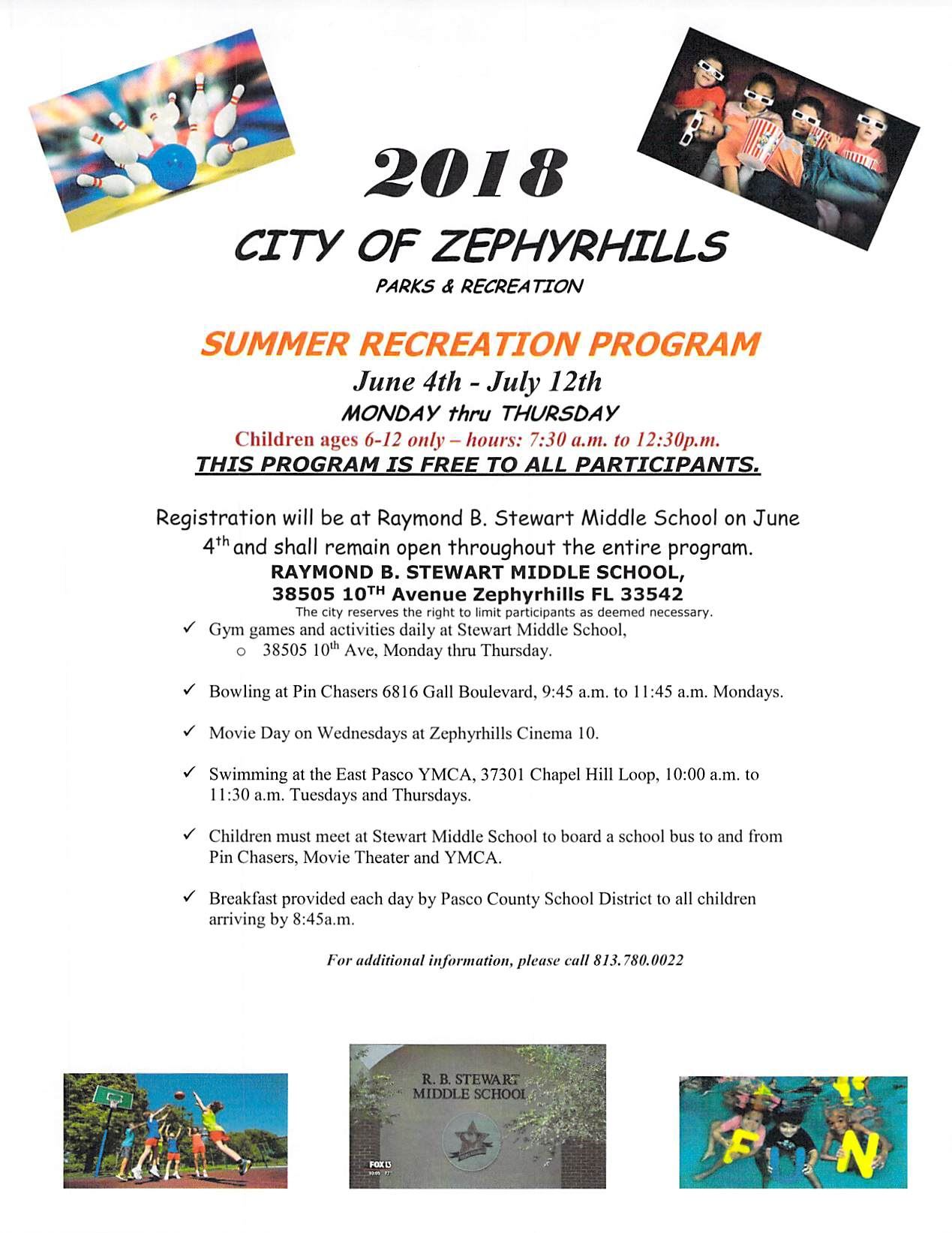 Summer Recreation Program 2018