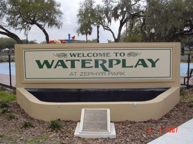 Water Park Sign