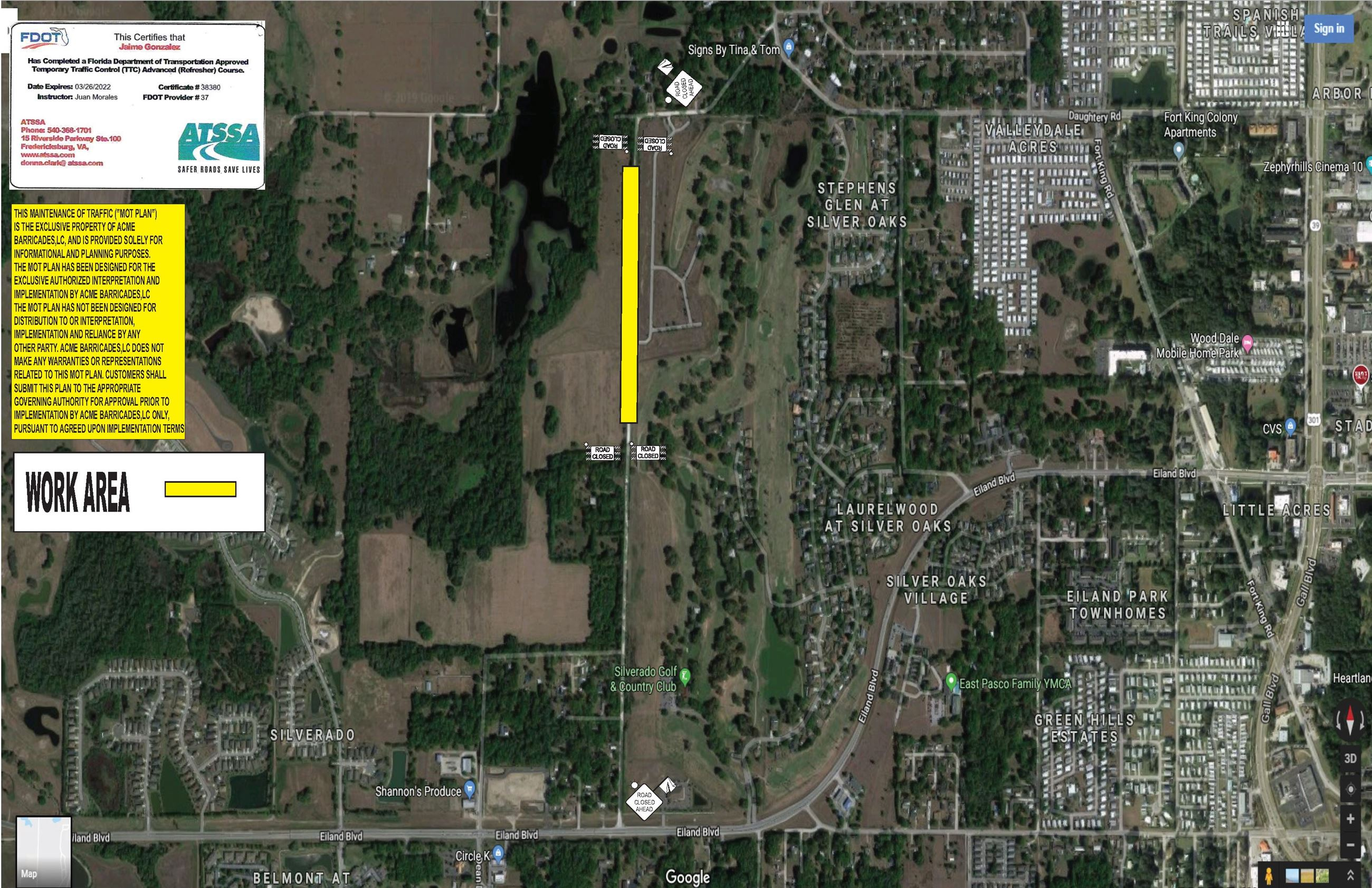 MOT Plan - Simons Road -Acme Map - Due to construction on Simons Road, there will be road closures a