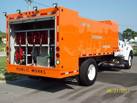 Orange Public Works Fuel Lube Truck