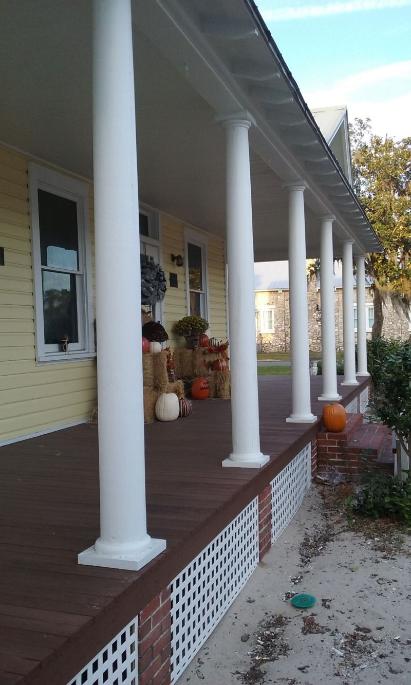 Columns on Porch