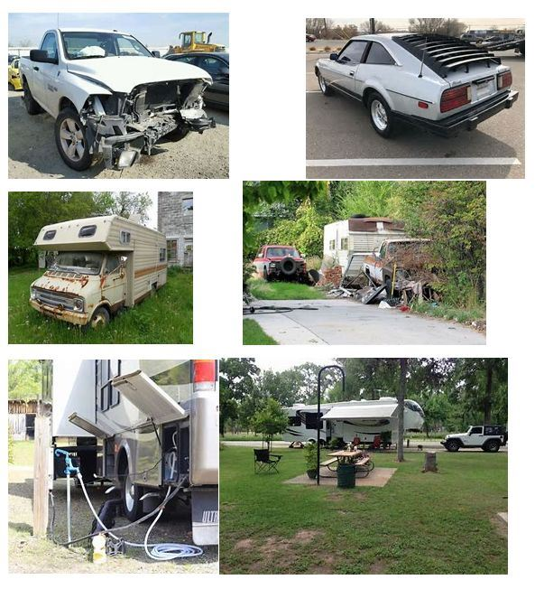 Dilapidated Vehicles and RVs